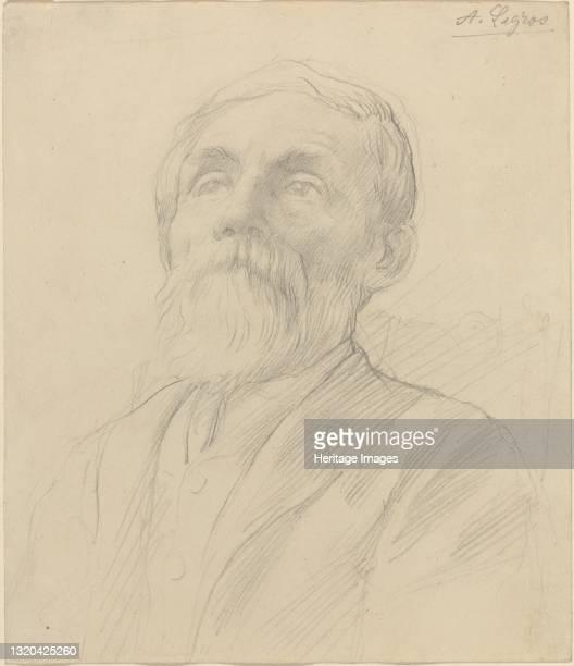 Portrait of an Old Man. Artist Alphonse Legros.
