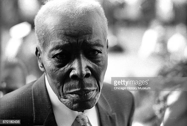 Portrait of an old man taken at a funeral for victims of the 16th Street Baptist Church bombing Birmingham Alabama 1963
