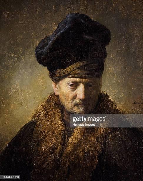 Portrait of an old man with fur hat 1630 Found in the collection of Tiroler Landesmuseum Ferdinandeum Innsbruck Artist Rembrandt van Rhijn
