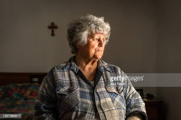 portrait of an old portuguese woman. - fat old women stock pictures, royalty-free photos & images