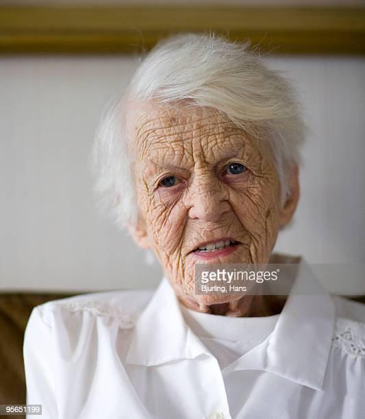 Portrait of an old woman, Sweden.