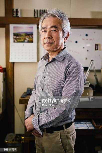 Portrait of an older Japanese Machinist