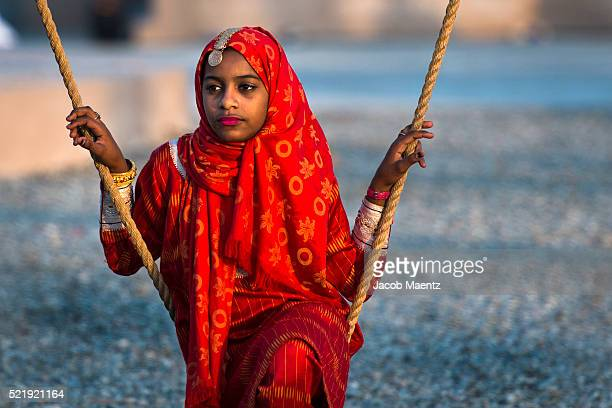 Portrait of an Omani girl
