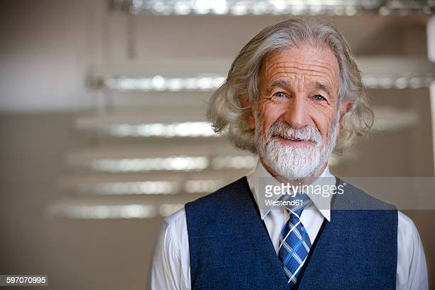 Portrait of an smiling senior man