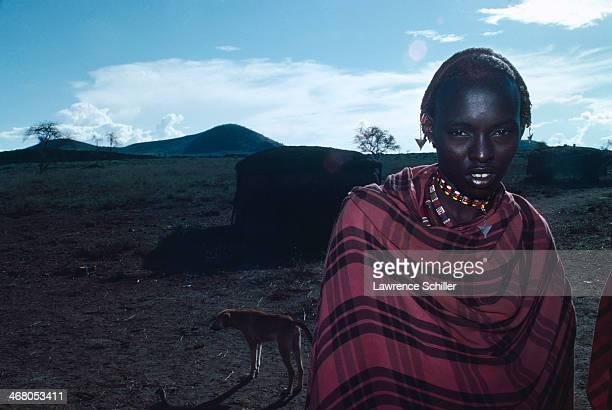 Portrait of an unidentified Maasai Kenya 1977