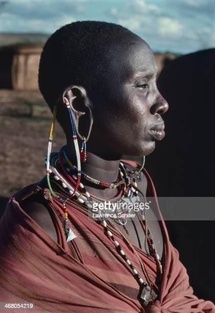Portrait of an unidentified Maasai woman Kenya 1977