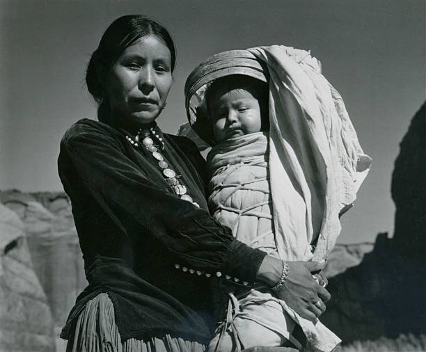 'Navajo Woman And Infant, Canyon De Chelle, Arizona'