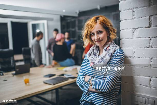 Portrait of an young confidente businesswoman