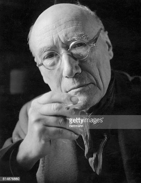 Portrait of Andre Gide , writer son of Jean Paul. Undated photograph.