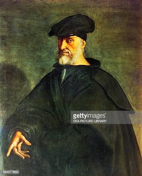 Portrait of Andrea Doria Italian admiral and politician of the Republic of Genoa Painting by Sebastiano Del Piombo
