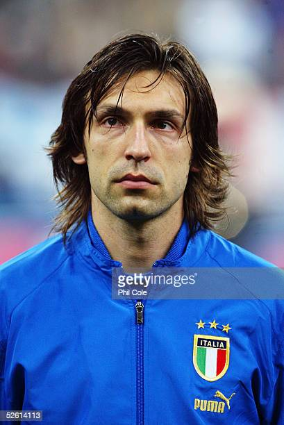 A portrait of Andrea Pirlo of Italy prior to the the World Cup Qualifier Group Five match between Italy and Scotland at the San Siro on March 26 2005...