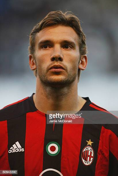 Portrait of Andrei Shevchenko of AC Milan during the UEFA Champions League match between Deportivo La Coruna and AC Milan at the Estadio Municipal de...