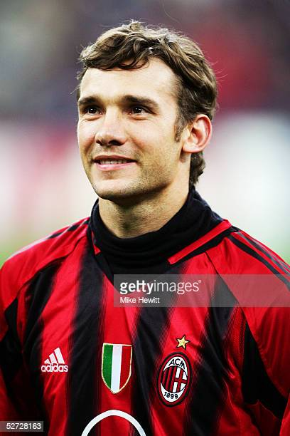 A portrait of Andrei Shevchenko of Milan prior to the UEFA Champions League quarterfinal second leg between Inter Milan and AC Milan at the San Siro...