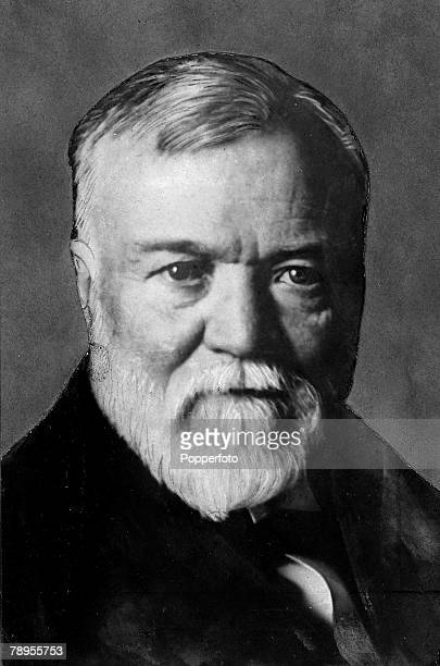 Portrait of Andrew Carnegie US Industrialist and Philanthropist