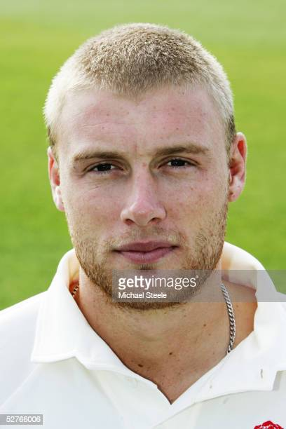 Portrait of Andrew Flintoff of Lancashire taken during the Lancashire CCC Photocall at Old Trafford on April 8, 2005 in Manchester, England.
