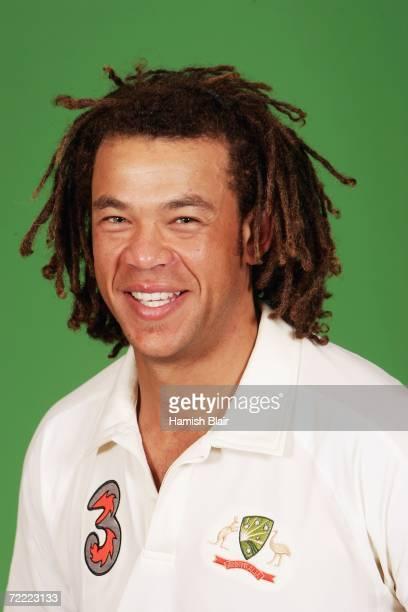 A portrait of Andrew Symonds of Australia taken during the Australian cricket team training camp on August30 2006 at the Hyatt Regency at Coolum...
