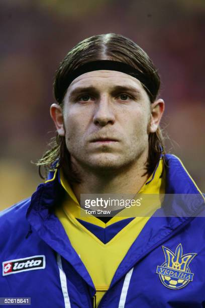 Portrait of Andriy Voronin of Ukraine prior to the World Cup qualifying match between Ukraine and Denmark held at the Olympic Stadium in Kiev,...