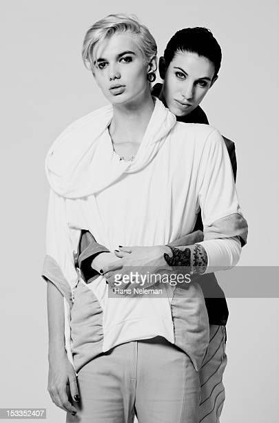 Portrait of androgynous couple