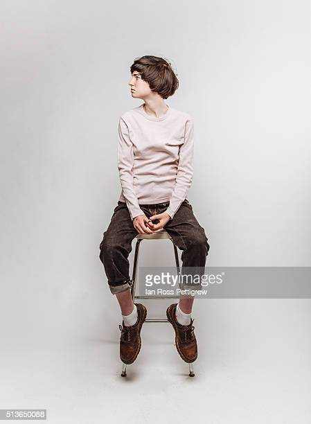 Portrait of androgynous model