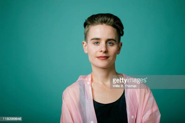 "portrait of androgynous""nwoman - androgynous stock pictures, royalty-free photos & images"