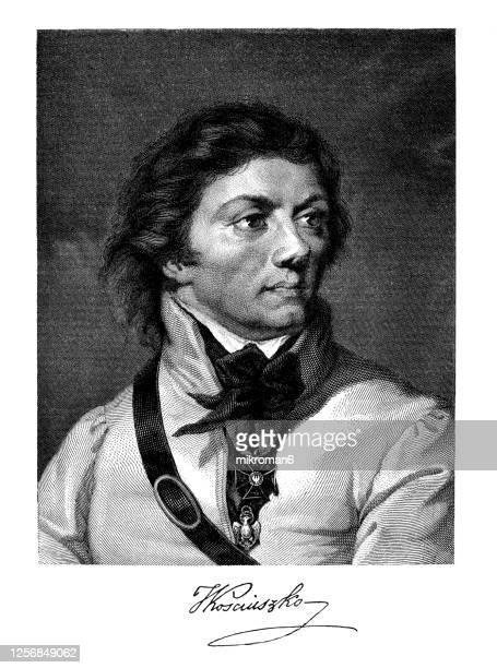 portrait of andrzej tadeusz bonawentura kościuszko - prime minister stock pictures, royalty-free photos & images