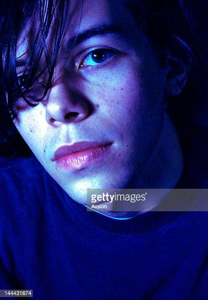 Portrait of Andy Bell of UK band Ride photographed in the early 1990's