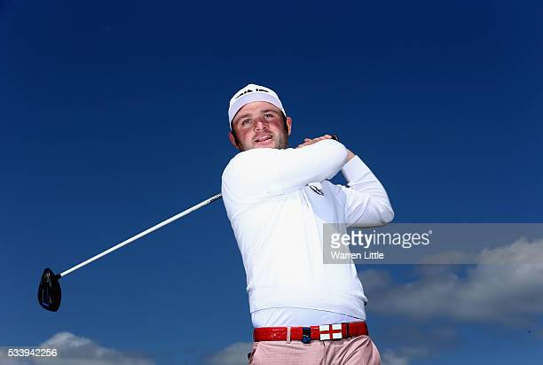 A portrait of Andy Sullivan of England ahead of the BMW PGA Championship at Wentworth Golf Club on May 24 2016 in Virginia Water England