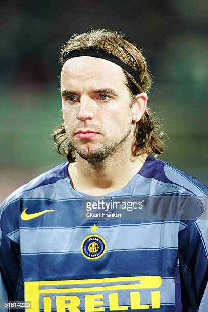 A portrait of Andy van der Meyde of Inter Milan prior to the UEFA Champions League group G match between Werder Bremen and Inter Milan at The Weser...