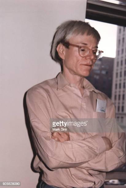 Portrait of Andy Warhol at The Factory 860 Broadway September 13 1981 New York City New York