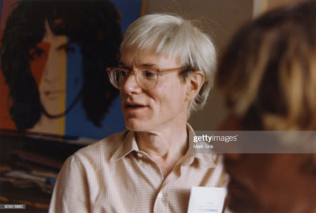 Portrait of Andy Warhol talking at The Factory, September 13, 1981 at 860 Broadway, New York City, New York.