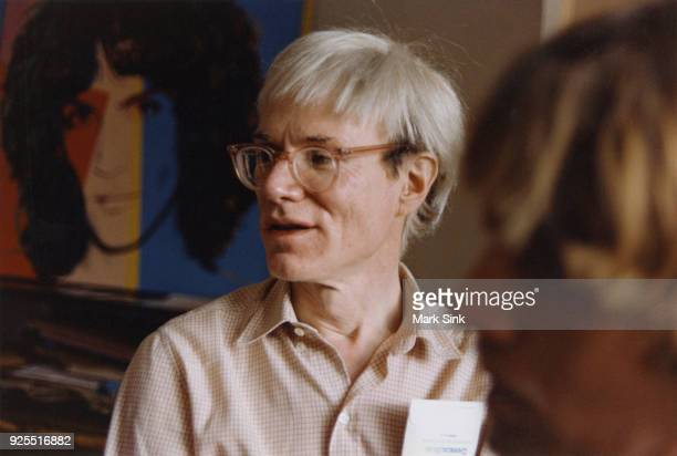 Portrait of Andy Warhol talking at The Factory September 13 1981 at 860 Broadway New York City New York