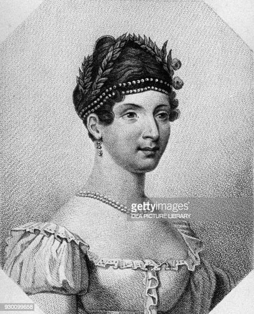 Portrait of Angelica Catalani Italian soprano engraving
