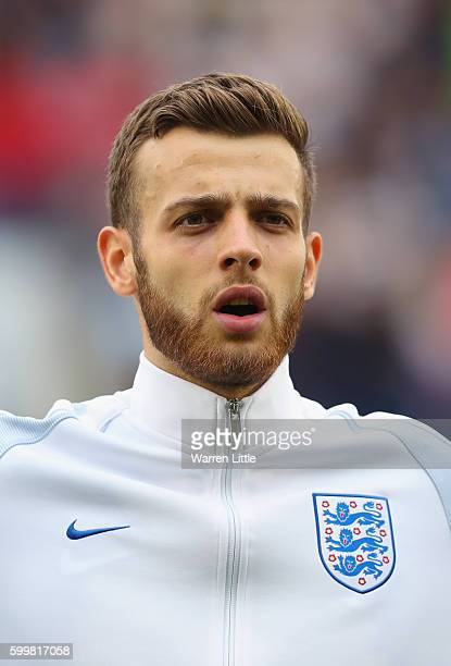A portrait of Angus Gunn of England ahead of the European Under 21 Qualifier match between England U21 V Norway U21 at Colchester Community Stadium...