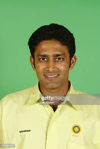 A portrait of Anil Kumble of India taken during an ICC photocall at the Victoria Park Plaza on September 6 2004 in London