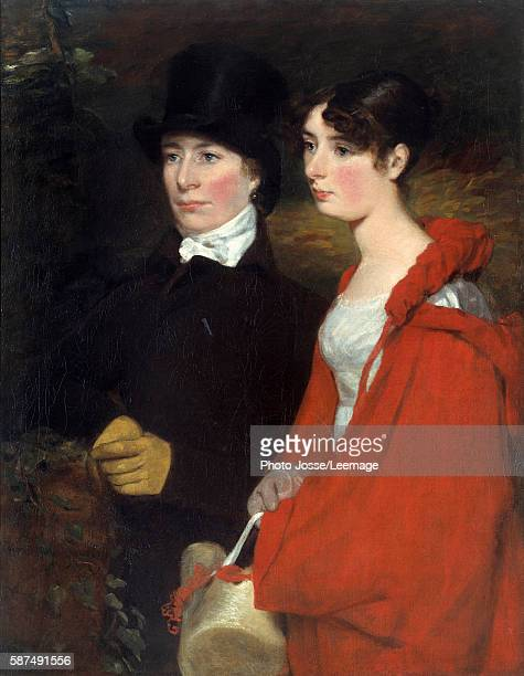 Portrait of Ann and Mary Constable. Painting by John Constable , circa 1810-1814. Private collection.