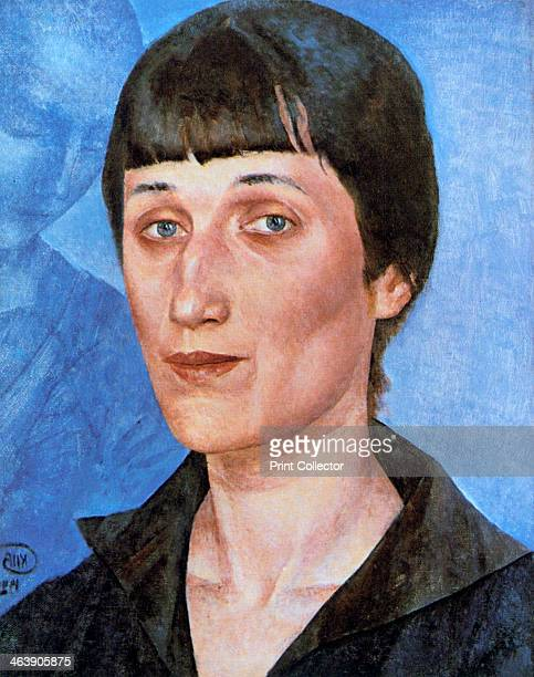 'Portrait of Anna Akhmatova' 1922 Anna Akhmatova was the pen name of the Russian poet Anna Andreevna Gorenko From the collection of the State Russian...