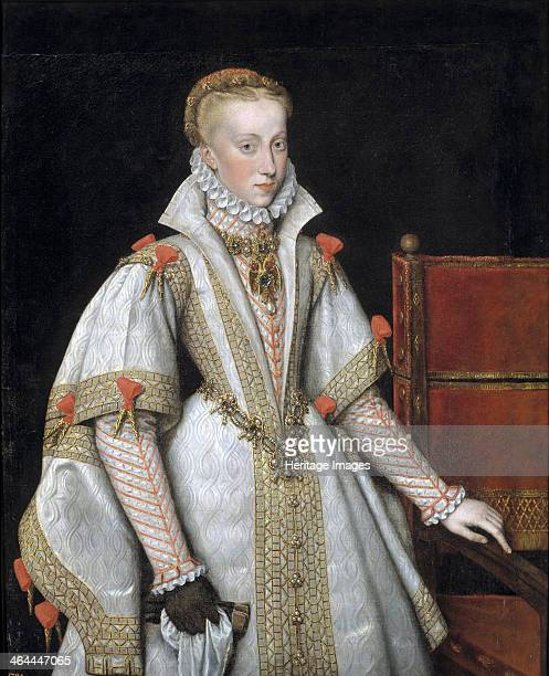 Portrait of Anna of Austria , Queen consort of Spain, 1616. Found in the collection of the Museo del Prado, Madrid.