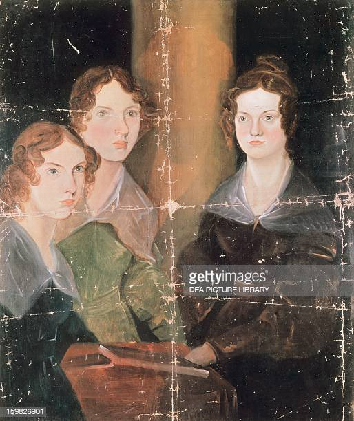 Portrait of Anne Bronte Emily Bronte and Charlotte Bronte English writers Oil on canvas by Patrick Branwell Bronte caa 1834 902 x746 cm London...