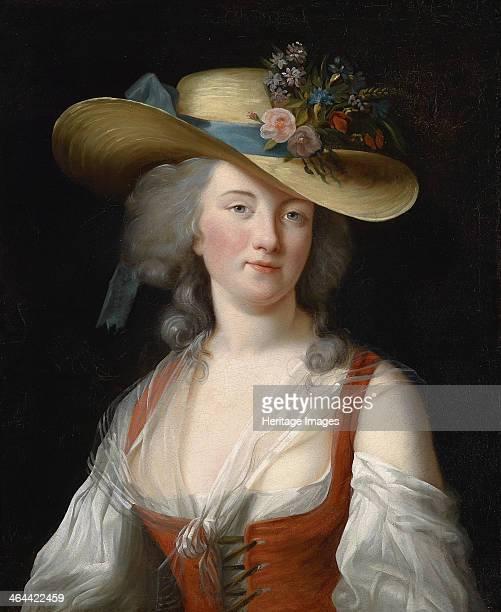 Portrait of Anne Catherine Le Preudhomme de Chatenoy Comtesse de Verdun as fine gardener c 1780 From a private collection