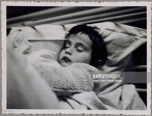 A portrait of Anne Frank sleeping Frankfurt am Main Germany From Anne Frank's photo album