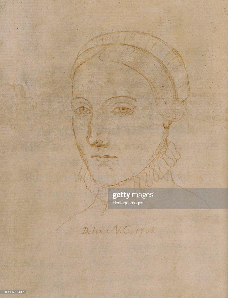 Portrait Of Anne Hathaway 1555/6-1623 : Fotografía de noticias