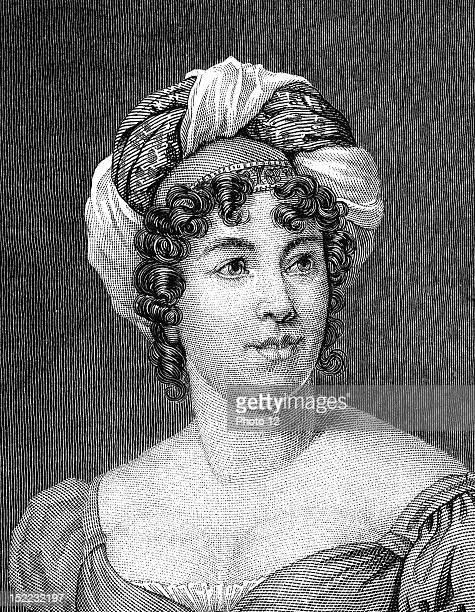 Portrait of Anne Louise Germaine Necker baroness of StaelHolstein a novelist
