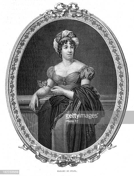 Portrait of Anne Louise Germaine Necker baronness of Stael Holstein who was a fiction writer