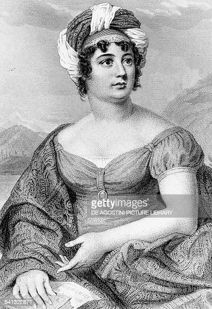 Portrait of AnneLouise Germaine Necker Baronne de StaelHolstein known as Madame de Stael French writer of Swiss origin engraving