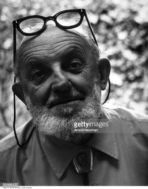 Portrait of Ansel Adams American landscape photographer August 7 1976 in Carmel California