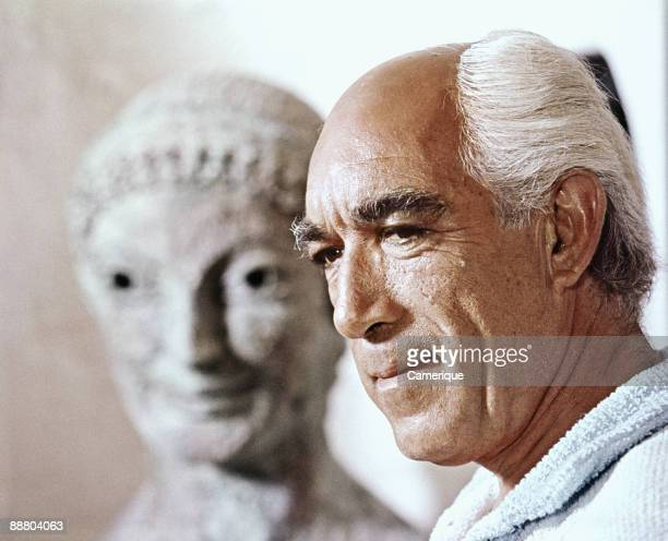 Portrait of Anthony Quinn in a scene from the movie The Magus 1968