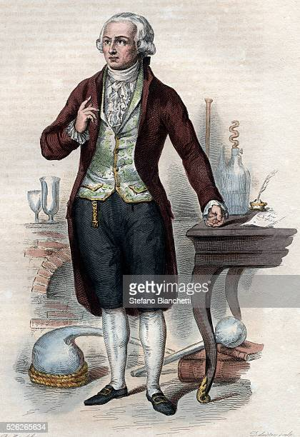 Portrait of Antoine Laurent de Lavoisier French chemist Illustration from 'Le Plutarque Francais' by Edmond Mennechet 1836 �� Stefano...