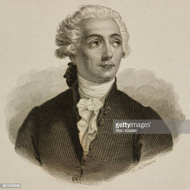 Portrait of AntoineLaurent Lavoisier French chemist biologist and economist engraving by Fontaine