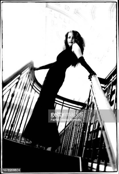 Portrait of Antonella Gambotto at the state Library of NSW It is imperative that the Location be given a credit with any photo run July 29 1994