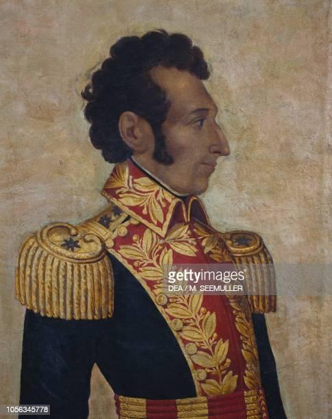 Portrait of Antonio Jose de Sucre Ecuadorian general and patriot painting by Antonio Salas